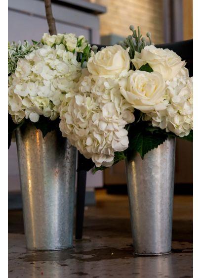 (Galvanized Tin Flower Bucket with Handle)