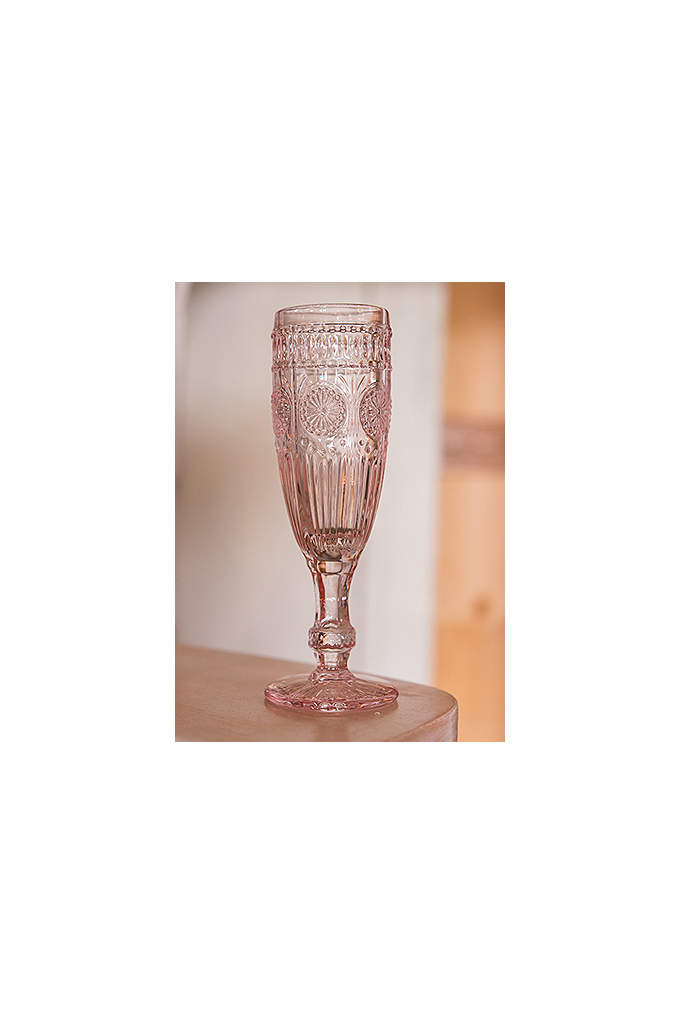 Tall Vintage Pressed Glass Goblet - What is old is now new again, and