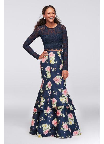 Long Mermaid/ Trumpet Long Sleeves Formal Dresses Dress - My Michelle