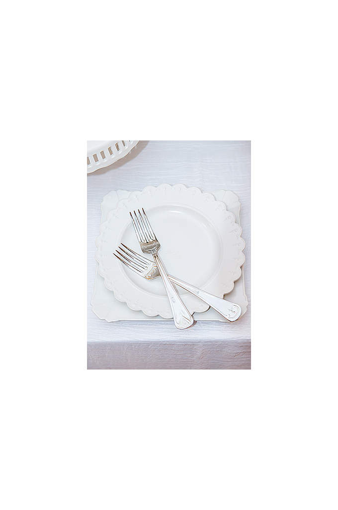 My One and Only Plate and Fork Wedding - This plate and fork set will make sharing