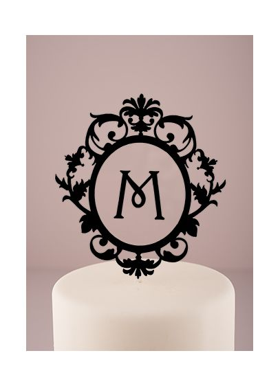 Personalized Floating Monogram Cake Topper