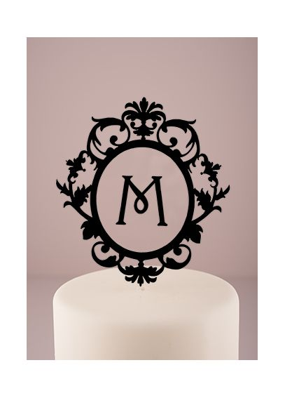 Personalized Floating Monogram Cake Topper  9867