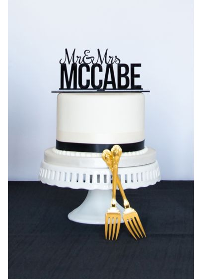 Personalized Mr. and Mrs. Acrylic Cake Topper - Wedding Gifts & Decorations
