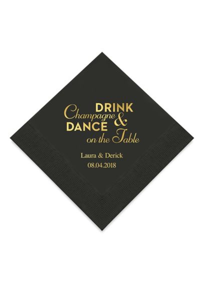 Personalized Beverage Napkins Set of 100 - Wedding Gifts & Decorations