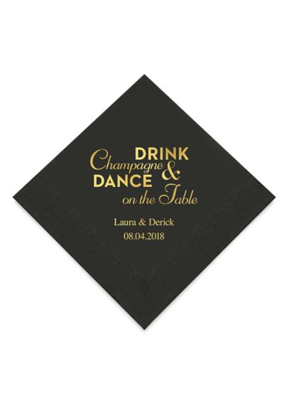 Personalized Beverage Napkins Set of 100 9874