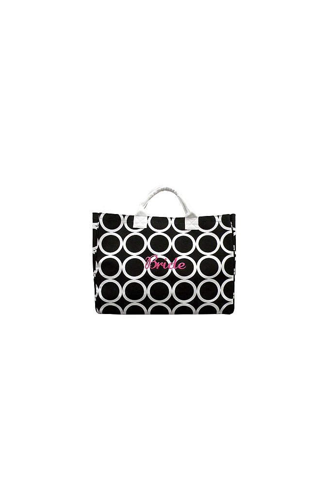 Circle Bride Tote - Printed canvas tote features piping contrast cotton handles