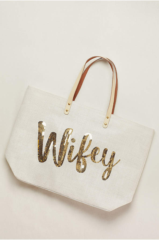 Wifey Tote Bag - Brides-to-be and recent brides alike will love to