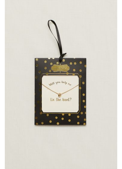 Will You Help Me Tie The Knot Necklace - Wedding Gifts & Decorations