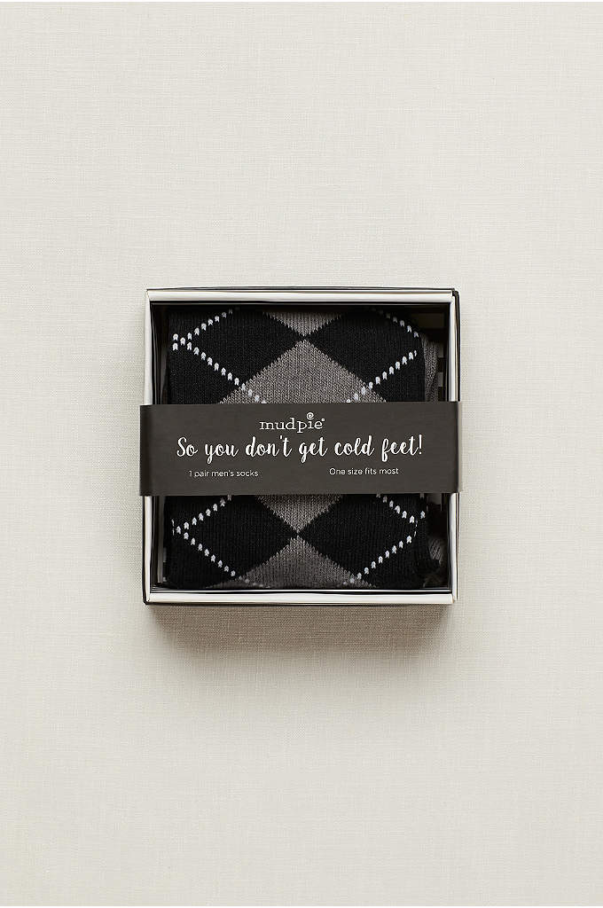 So You Don't Get Cold Feet Socks - These classic argyle socks are a sweet and
