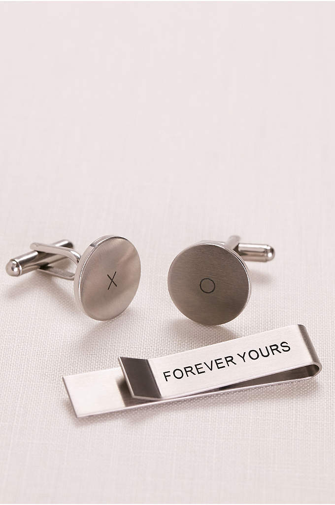 Forever Yours Tie Bar and Cufflink Set - There is something so special about giving your