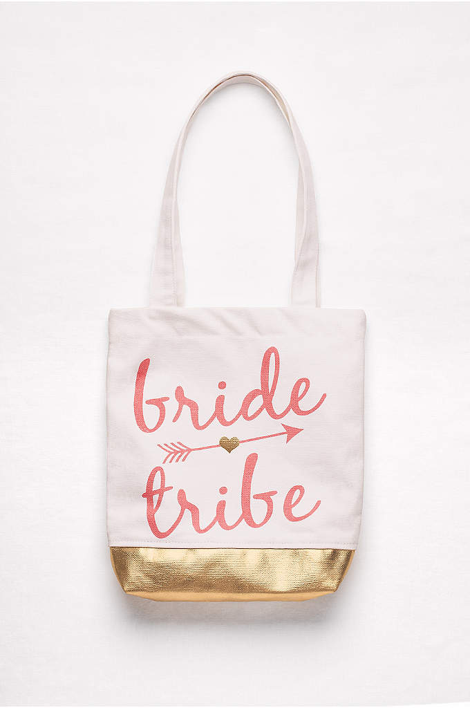 Bride Tribe Canvas Tote - Flashes of metallic gold make this heavyweight canvas