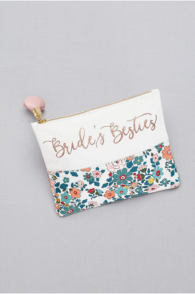 Bride's Besties Floral Canvas Pouch - Our exclusive floral print blooms bright on this