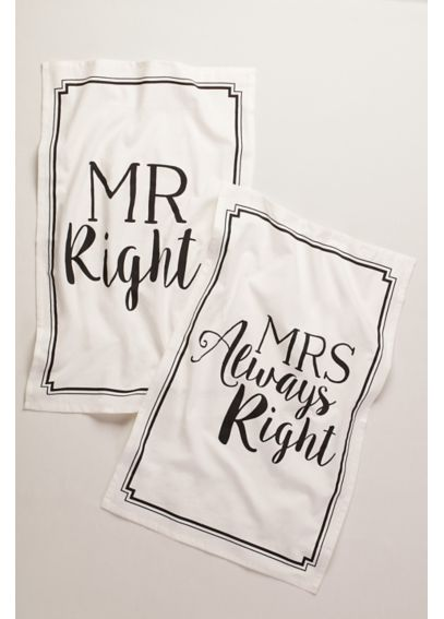 Mr Right and Mrs Always Right Dish Towels 999DB2001