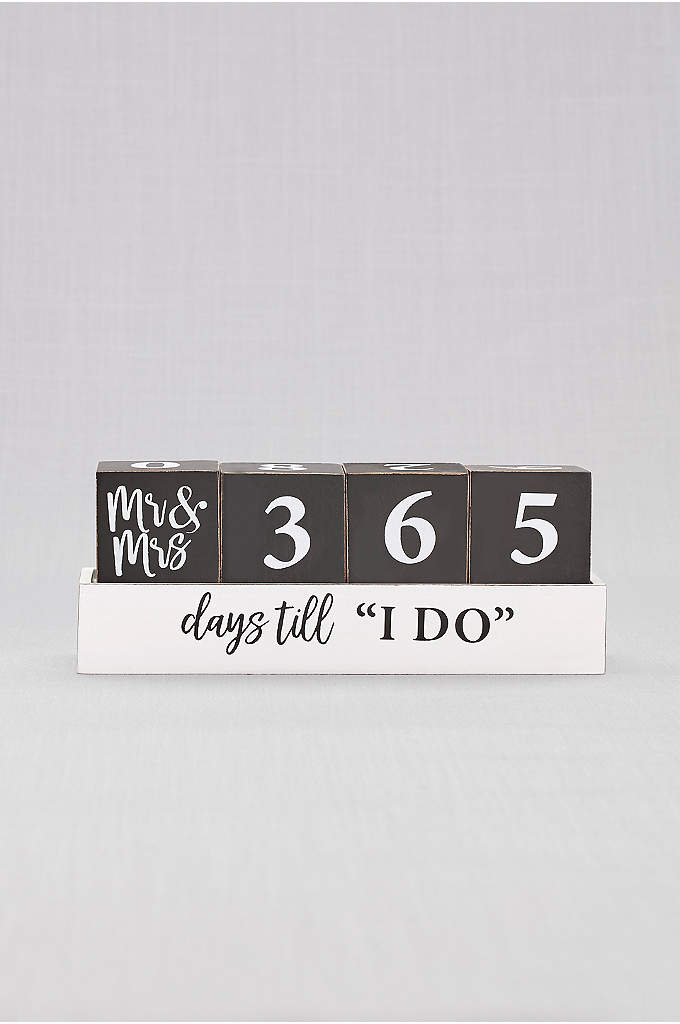Mr and Mrs Wedding Countdown Blocks - Keep track of how many days to go