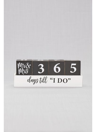 Black (Mr and Mrs Wedding Countdown Blocks)