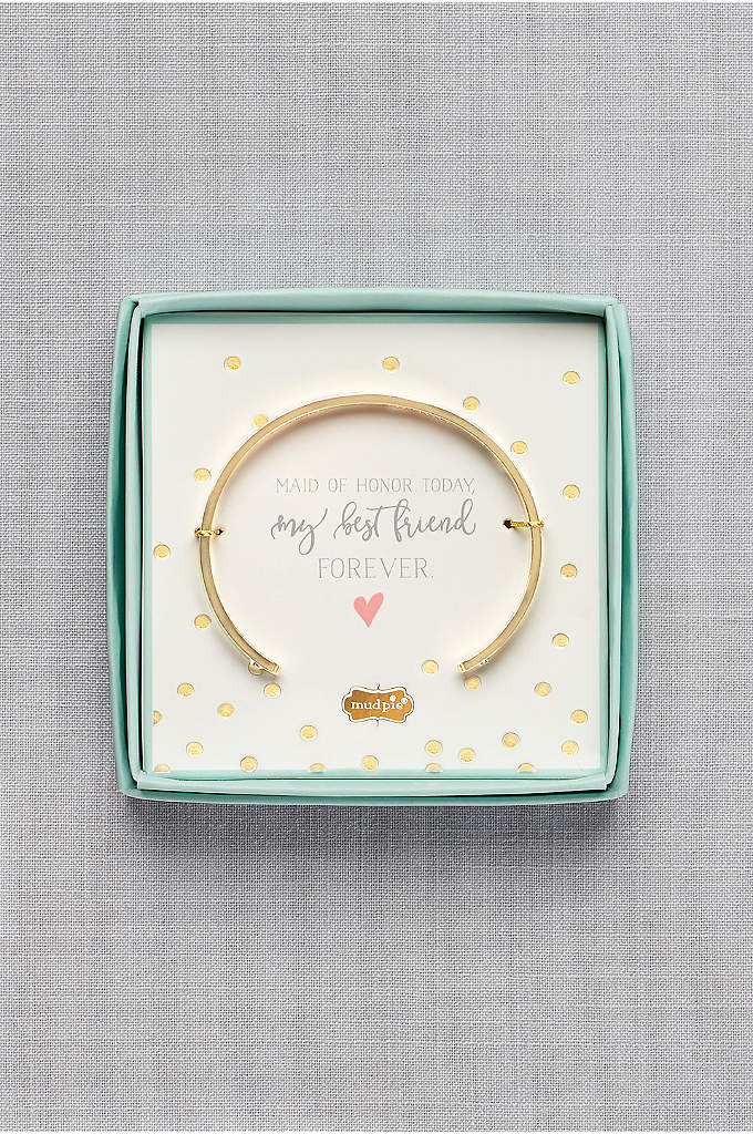 Will You Be My Maid of Honor Bracelet - Packaged in a keepsake box with the sentiment,