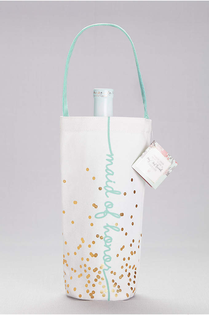 Maid of Honor Canvas Wine Tote - What better way to thank your maid of
