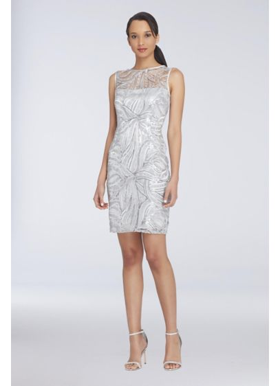 Tea Length Sheath Tank Cocktail and Party Dress - Tahari ASL