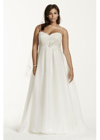 Plus Size Wedding Dress With Spaghetti Straps Davids Bridal