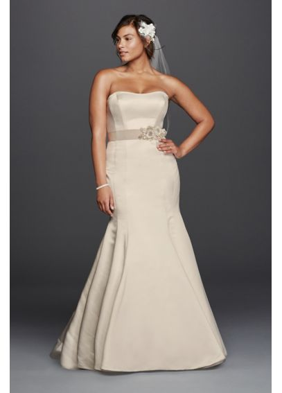 Plus Size Trumpet Wedding Dress with Visible Seams 9KP3738