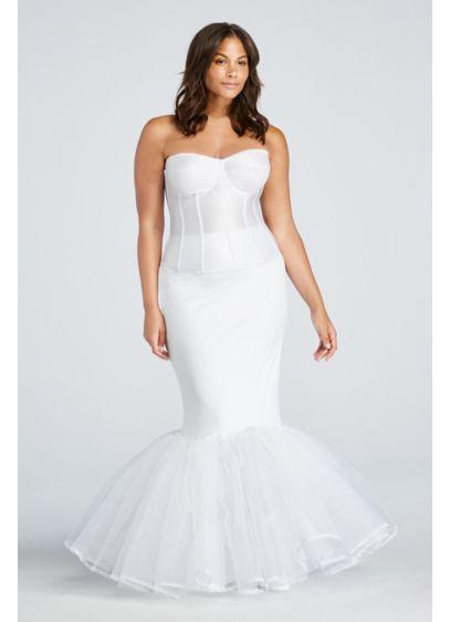 Extreme Mermaid Silhouette Plus Size Slip - Wedding Accessories