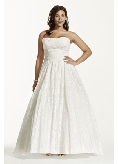 Lace Plus Size Wedding Dress with Pockets 9NTWG3512