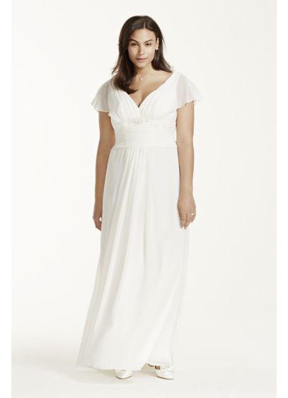 Long Sheath Beach Wedding Dress - David's Bridal Collection
