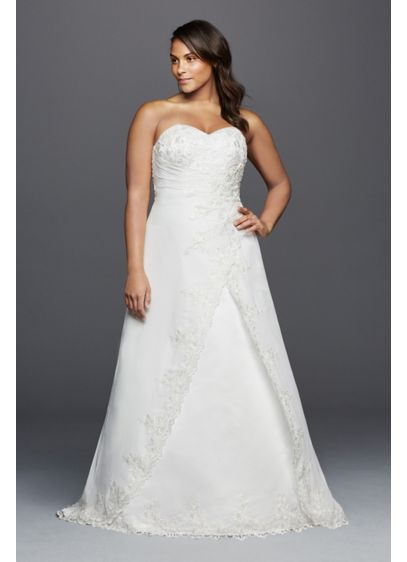 long a line formal wedding dress davids bridal collection