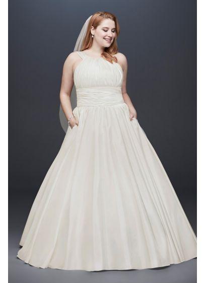 Long Ballgown Simple Wedding Dress -
