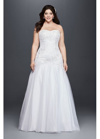 Plus Size Mermaid Wedding Dress with Beaded Lace 9OP1285