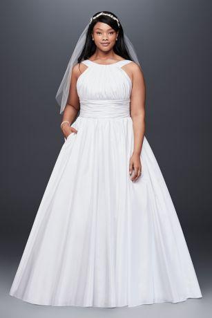 wedding dresses for plus size women taffeta