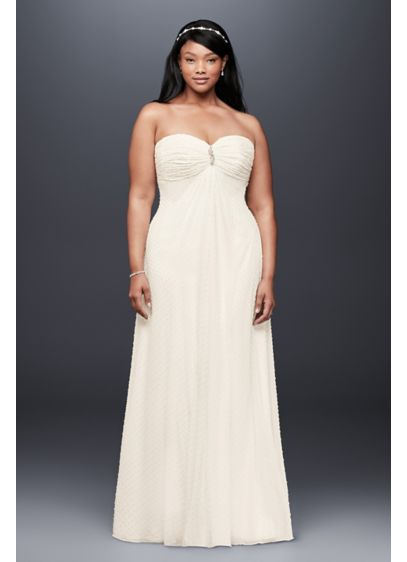 Long A-Line Beach Wedding Dress - David's Bridal Collection