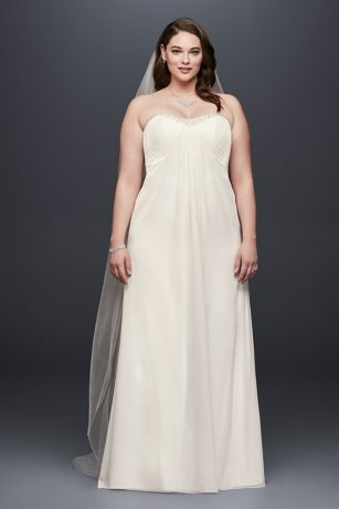 plus size chiffon wedding dresses