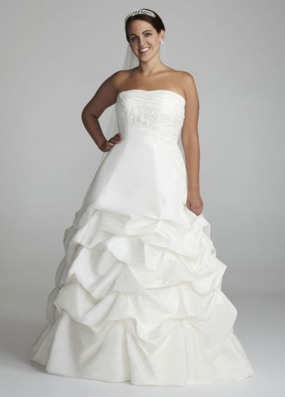 Taffeta Strapless Pick Up Ball Gown with Lace 9OP9102