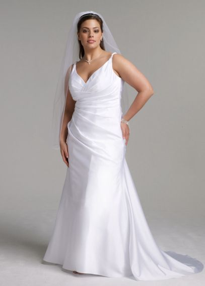 Satin Slim Gown with Twist Straps and Side Drape 9SAS1200