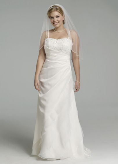 Satin Side Drape Gown with Beaded Bodice 9SAS1212