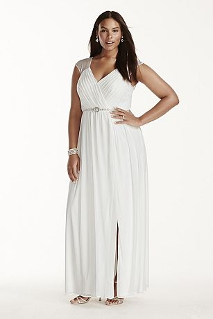Halter Plus Size Wedding Dress with Beaded Waist