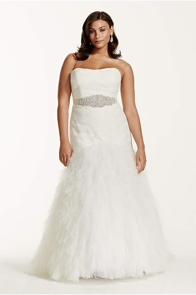 Gown with Basket Woven Bodice and Ruffled Skirt - When it comes to making the ultimate impact,