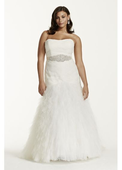 Gown with Basket Woven Bodice and Ruffled Skirt 9SWG523