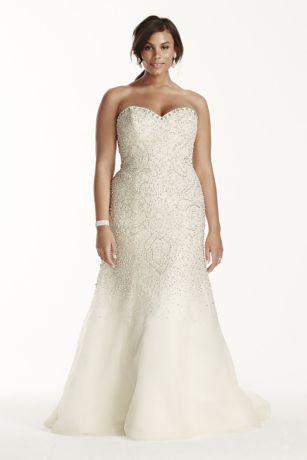 Crystal beaded wedding dress