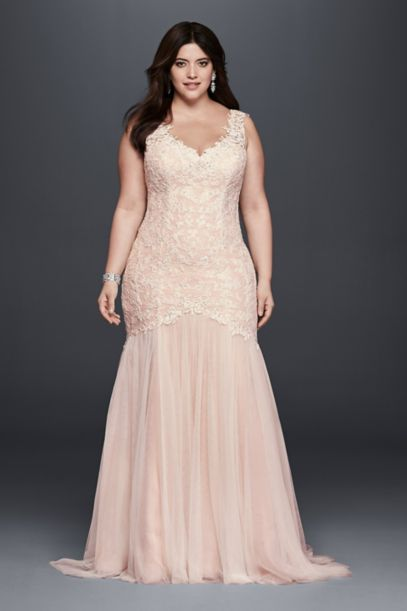 Beaded Trumpet Plus Size Wedding Dress | David's Bridal