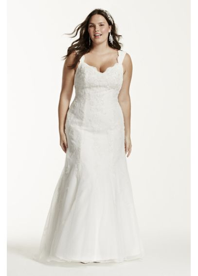 Tank Tulle Trumpet Gown with Lace Detail 9V3643