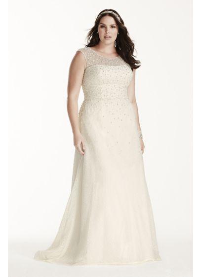 Long Sheath Formal Wedding Dress - Jewel