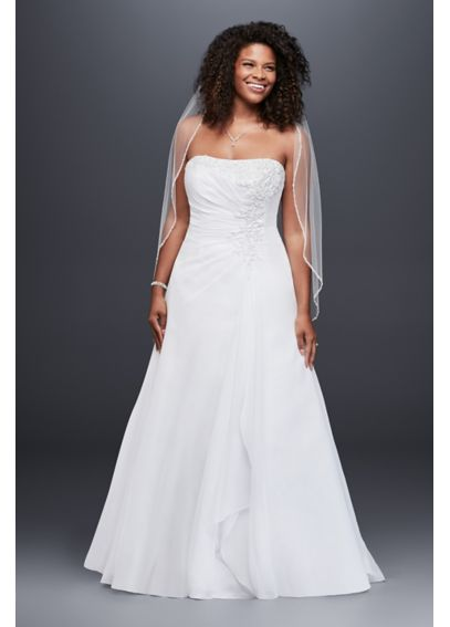 Chiffon A-line Gown with Side Draped Bodice 9V9409
