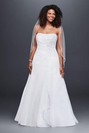 Elegant Long A Line Simple Wedding Dress   Davidu0027s Bridal Collection Amazing Ideas