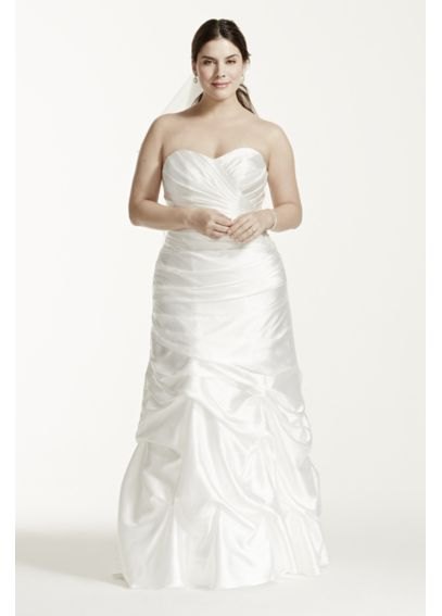 Charmeuse Pick-Up Skirt Plus Size Wedding Dress 9WG3339