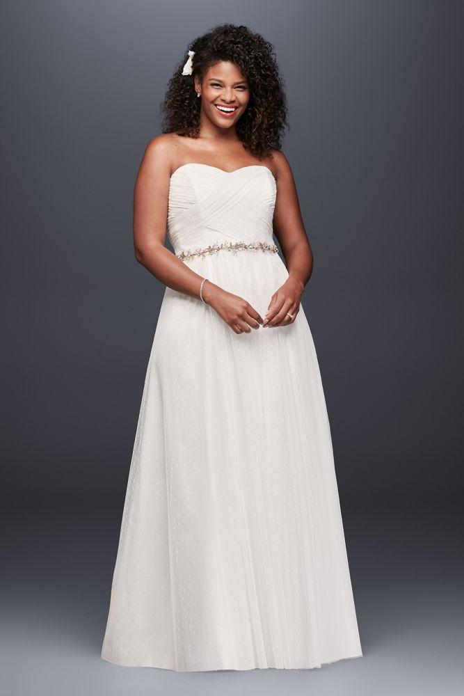 Galina dot tulle empire waist soft wedding dress style for Empire waist tulle wedding dress