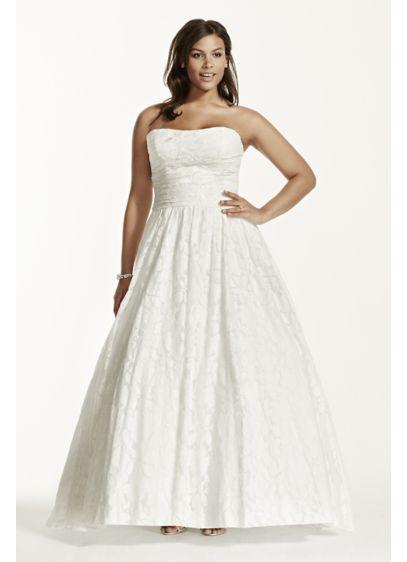 Lace Plus Size Wedding Dress With Pocket Detail Davids