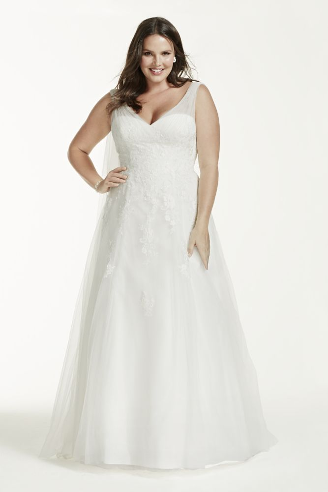 A line plus size wedding dress with floral lace style for Need to sell my wedding dress