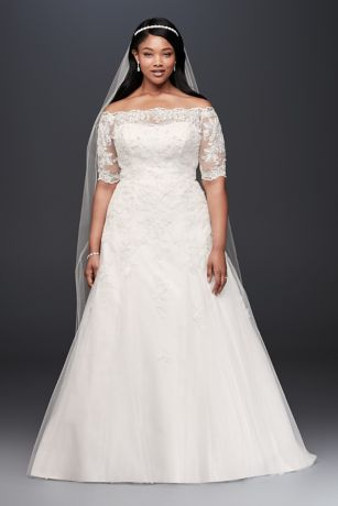 Wedding dress in plus size